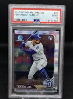 2019 Bowman Chrome #26 Fernando Tatis Jr RC Rookie Padres PSA 9 MINT!!!
