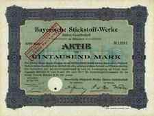 Bayerische Stickstoff Werke AG 1918 München SKW Trostberg Degussa Hüls Bielefeld