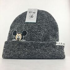 NEW Mickey Mouse Disney Collection Neff Beanie Gray Black