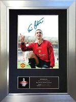 ERIC CANTONA Man Utd Signed Autograph Mounted Photo Repro A4 Print 488