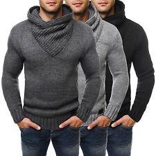 Unifarbene Herren-Pullover & -Strickware mit Knöpfen und grober Strickart