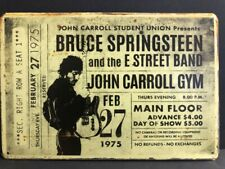 BRUCE SPRINGSTEEN E STREET BAND CONCERT TICKET LARGE RUSTIC METAL SIGN 40x30cm