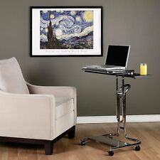 Modern Mobile Laptop Rolling Cart Adjustable Desktop Table Stand Workstation NEW