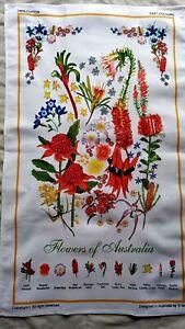SALE 20%OFFCollectable Vintage Style Australia Souvenir Wildflower Tea Towel New