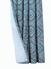 """Marocain design Doublé Œillets Rideaux 66x72"""" 168x183cm Bleu Sarcelle/Vert Jade vente"""