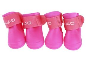 Rubber Shoes Socks Puppy Pet Boots Protection Anti-Skid Dirt Rainy Waterproof