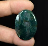 Moss Agate 100% Natural Cabochon 44.25 Cts. Oval Loose Gemstone