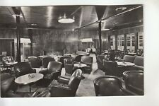 Real Photo Postcard Smoking Room First Class on New Amsterdam in New York City