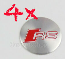 4x Audi 57mm Sticker Wheel Center Caps Emblem Wheel Cover Hub RS RS3 RS4 RS5 RS6