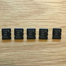 Lot Of 5 Sony 512mb M2 Memory Stick Micro for K800i W580i W995 New Free Shipping
