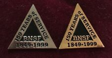 Tie Tack Hat Pin BNSF 150 YEARS OF SERVICE 1849-19999 Set Of 2