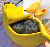 Creative Banana Shape Cat Nest Pet Warm Soft Plush Breathable Bed Cute House