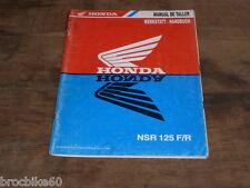 MANUEL REVUE TECHNIQUE D ATELIER HONDA NSR 125 F/R 1993 -> Werkstatt Handbuch