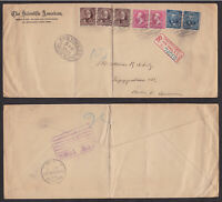 USA United States 1898 Registered Cover to Germany