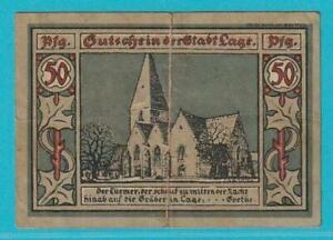 Notgeld 32791 Stadt Lage 50 Pfennig aus 1921