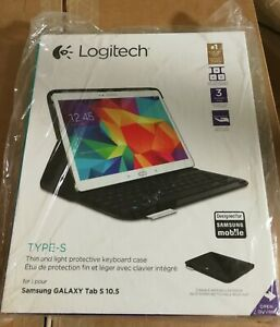 New Logitech Type-S Keyboard for Samsung Galaxy Tab S 10.5 - Black