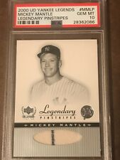 2000UD Upper Deck Yankees Legends Mickey Mantle Legendary Pinstripes #MMLP PSA10