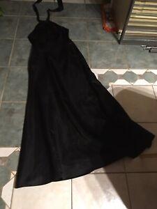 Abendkleid Abi Ballkleid Kleid Abiballkleid lang schwarz Schlitze Gr. M,