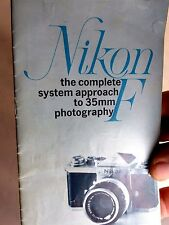Nikon Complete F camera System 35mm Photography Guide English language 27 pages