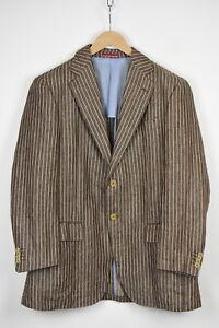 PAL ZILERI CONCEPT Men's (EU) 54 or ~X LARGE Linen Pinstripe Blazer 39765-ES