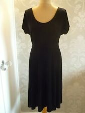 M&Co black velvet dress size 16