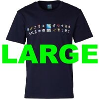 England Rugby World Cup 2015 Mens Boys T Shirt Tee Large L NAVY RWC 20 Nations