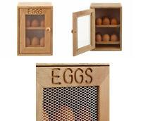 New 2 Tier Wooden Egg Cabinet 12x Egg Storage Holder Rack Kitchen Cupboard Stand