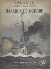 Chack HASARD DE GUERRE Marins à la bataille - Les Éditions de France