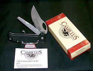 Camillus Gapper Lockback Knife W/Original Packaging & Care Instructions Rare Set
