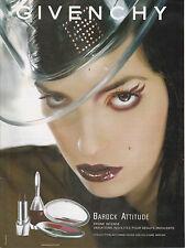 GIVENCHY BAROCK ATTITUDE - PUBLICITE PRESSE - PAPER ADVERT - COUPURE MAGAZINE