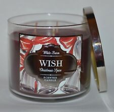 NEW BATH & BODY WORKS WISH CHRISTMAS SPICE SCENTED CANDLE 3 WICK 14.5 OZ LARGE