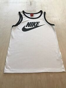 Nike Mens Athletic Cut Tank Top Sz Small White