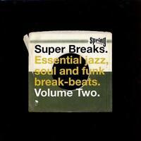 SUPER BREAKS VOLUME 2  NEW & SEALED JAZZ SOUL FUNK BREAK BEATS 2X LP VINYL (BGP)