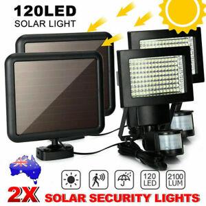 2/4x Solar Poweredr 120LED Motion Night Lights Security Sensor Garden Outdoor