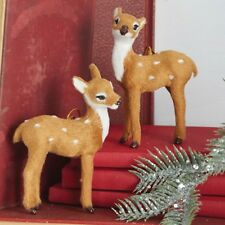 Furry Deer Ornaments