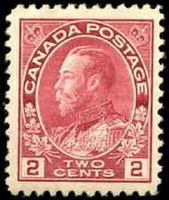 Canada #106 mint VF OG NH 1917-1922 King George V 2c carmine Admiral CV$120.00