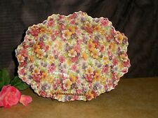 James Kent Chintz Bowl DuBarry Ruffled Bowl #104 England - Free Ship