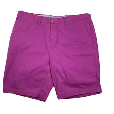 Tommy Hilfiger Shorts Mens Size 36 Purple Flat Front