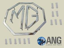 MG MIDGET I,II,MG1100/1300,MGA,MGB>'69,MGC,MG MAGNETTE CHROME 'MG' BADGE & CLIPS