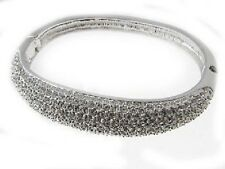 MIRROR PLATED CRYSTAL PAVE BANGLE - REALLY SPARKLES