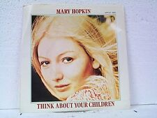 """MARY HOPKIN """"THINK ABOUT YOUR CHILDREN"""" 45 w / PS APPLE MINT UNPLAYED"""