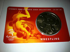 2000 UNC $5 OLYMPIC COIN COLLECTION WRESTLING