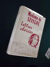 Madame de SÉVIGNÉ lettres choisies 1947   - Hatier   D3