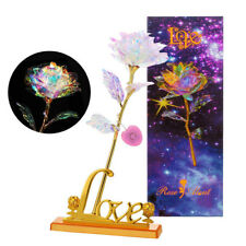 Galaxy Rose Flower Valentine's Day Lovers' Gift Romantic Flower With Love Base
