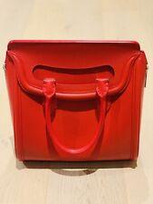 Alexander McQueen Heroine Leather Bag Crimson Red