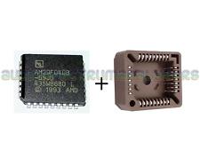 AM29F040 55ns 4Mbit 512k x 8bit AMD NOR Flash IC New with PLCC32 DIP Socket - UK