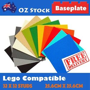 Building Base Plate Lego Compatible Baseplate 32x32 Studs 25.6 x 25.6 cm