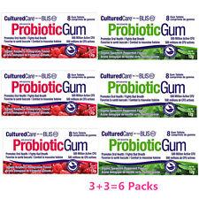 CulturedCare Oral Probiotic BLIS-K12 -6 Packs Gum x 8 pieces (three each)