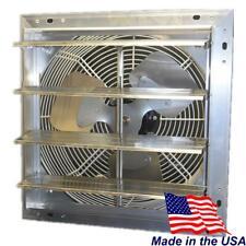 Hessaire 16 In 1100 Cfm Power Shutter Mount 3 Speed Exhaust Fan Roof Attic Vent