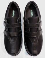 Women's Apex shoes Black 8.5 Leather NEW diabetic comfort bunions A730W NWOB